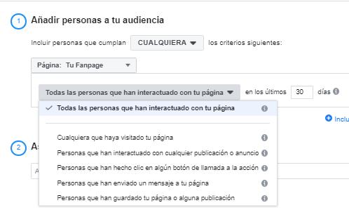 facebook ads auediencas fanpage