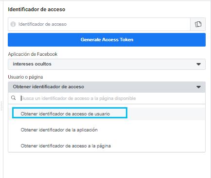 identificador de usuario app facebook